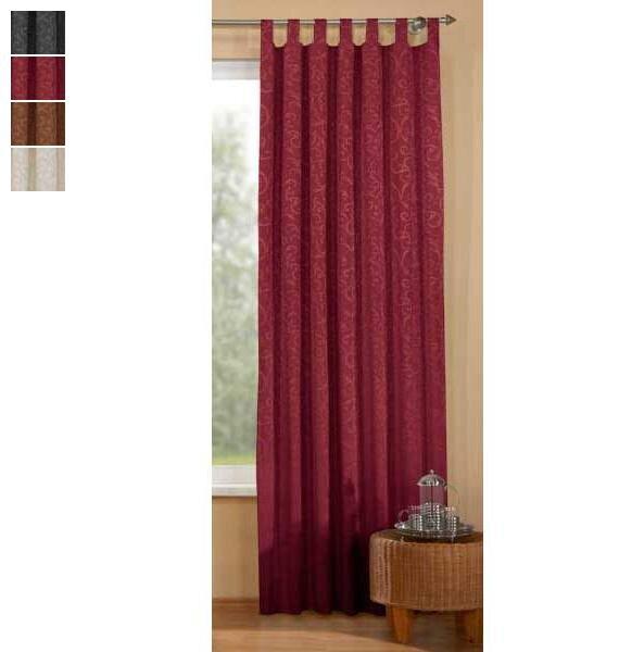 61112 schlaufenschal jacquard blickdicht 9 90 vorhang. Black Bedroom Furniture Sets. Home Design Ideas