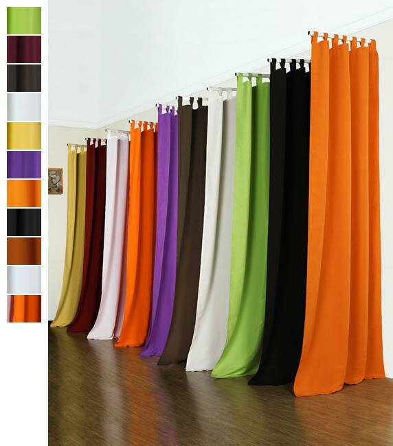 Vorhang Blickdicht Schlaufenschal aus Microsatin matt 225x140 Creme