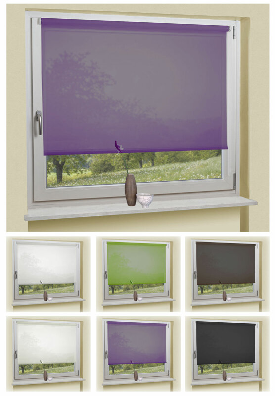 62010 seitenzugrollo klemmfix kettenzug rollo lichtdurchl ss. Black Bedroom Furniture Sets. Home Design Ideas