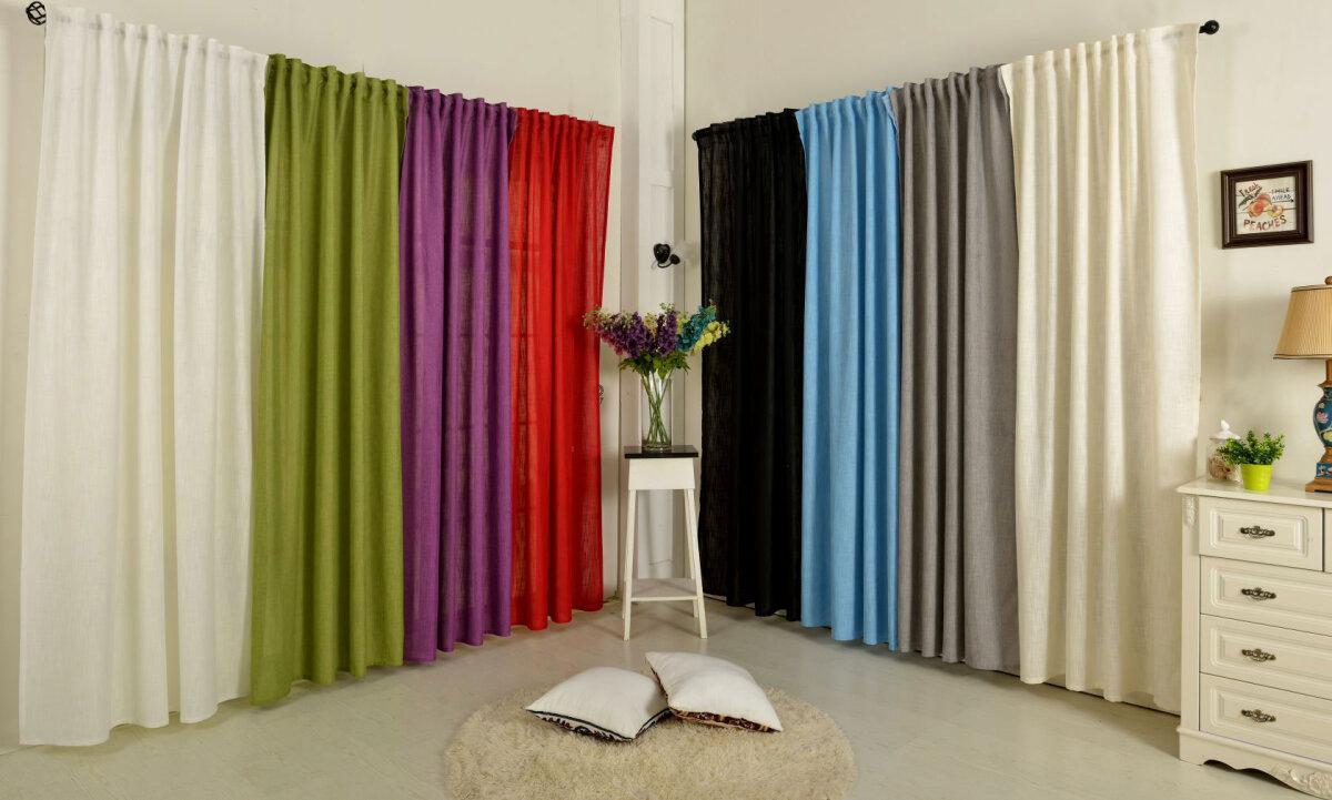 20445 vorhang mit schlaufenband linene blickdicht leinen grob opti. Black Bedroom Furniture Sets. Home Design Ideas