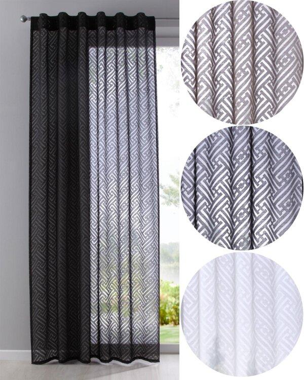 63000 gardine vorhang blackyard verdeckte schlaufen ausbrenner 1. Black Bedroom Furniture Sets. Home Design Ideas