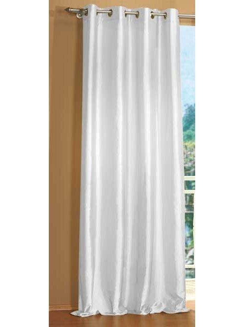 20330 wei 245x140 gardine taft vorhang mit sen blick. Black Bedroom Furniture Sets. Home Design Ideas