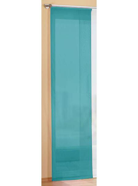 85589 t rkis 245x60 fl chenvorhang schiebegardine mit zu. Black Bedroom Furniture Sets. Home Design Ideas