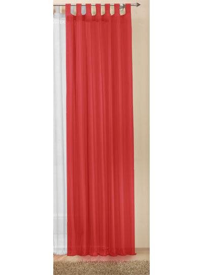 Schlaufenschal Gardine Voile transparent Schal HxB 225x140 cm Rot