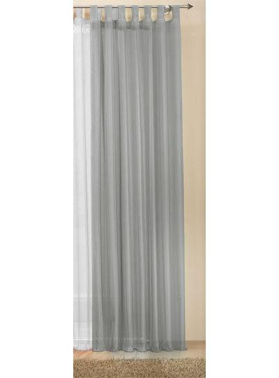 61175 grau 245x140 schlaufenschal gardine uni transparent voile 4. Black Bedroom Furniture Sets. Home Design Ideas