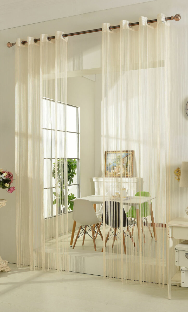 20304 creme 250x140 fadengardine fadenstore vorhang mit sen. Black Bedroom Furniture Sets. Home Design Ideas