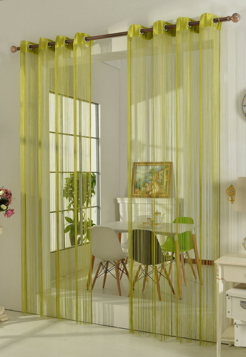 20304 apfelgr n 250x140 fadengardine fadenstore vorhang mit. Black Bedroom Furniture Sets. Home Design Ideas