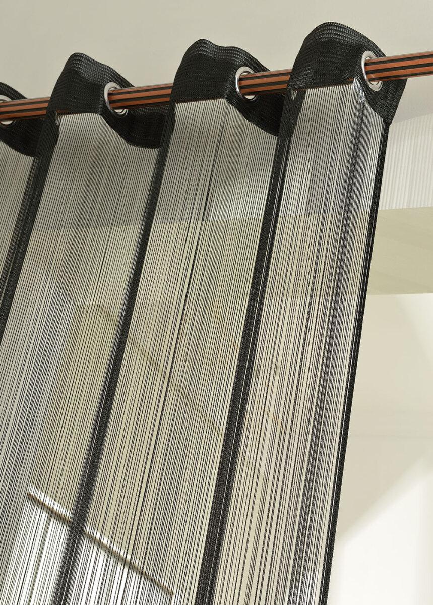 20304 schwarz 250x140 fadengardine fadenstore vorhang. Black Bedroom Furniture Sets. Home Design Ideas