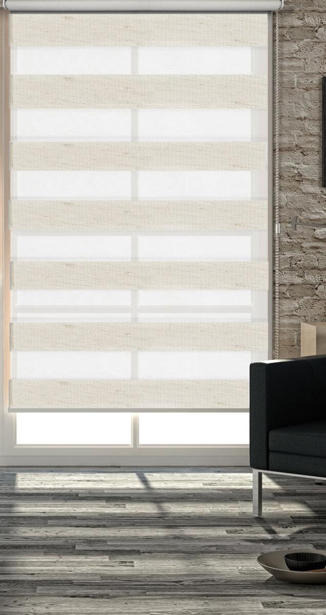 62300 natur 45x160 doppelrollo duo rollo klemmfix easyfix variorol. Black Bedroom Furniture Sets. Home Design Ideas