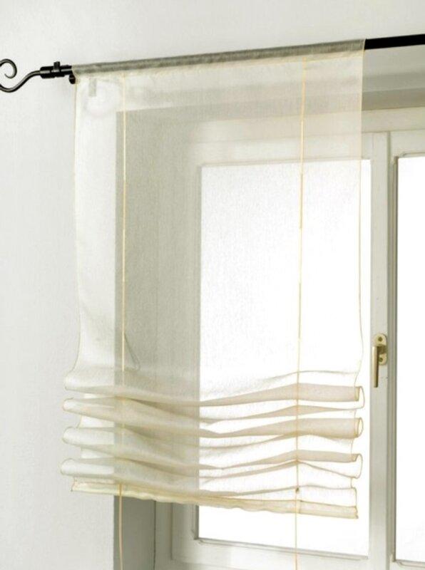 raffrollos raffgardinen natur vorhang deko schiebegardinen fl. Black Bedroom Furniture Sets. Home Design Ideas