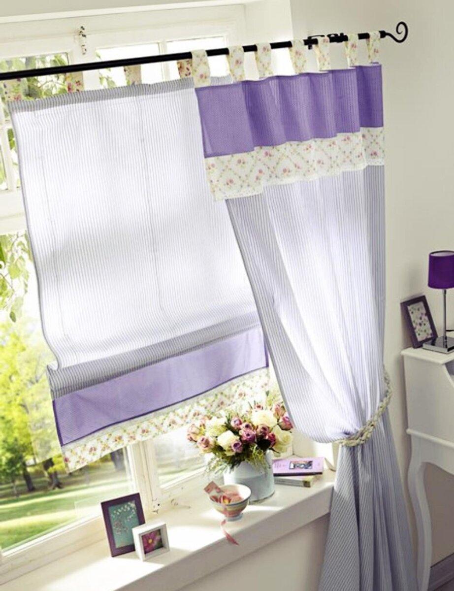 raffrollo mit schlaufen blickdicht farbe lila design. Black Bedroom Furniture Sets. Home Design Ideas