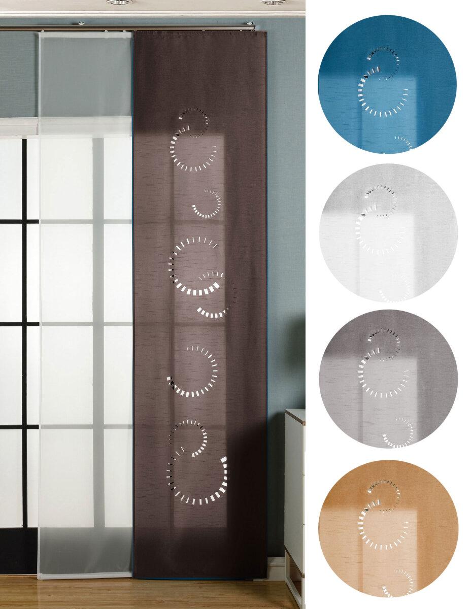 165610 2er pack schiebegardine fl chenvorhang avila lasercut. Black Bedroom Furniture Sets. Home Design Ideas