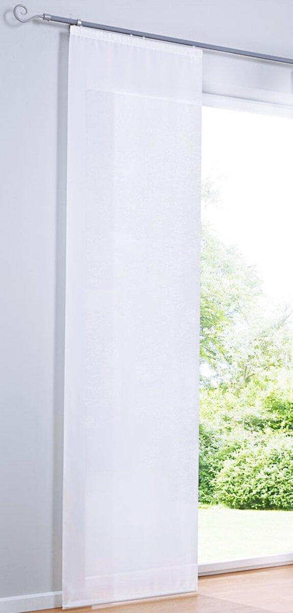 schiebevorhang mit flauschband klettband farbe weiss. Black Bedroom Furniture Sets. Home Design Ideas
