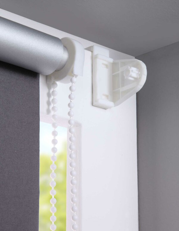62400 grau 100x150 thermo seitenzugrollo klemmfix kettenzug rollo. Black Bedroom Furniture Sets. Home Design Ideas