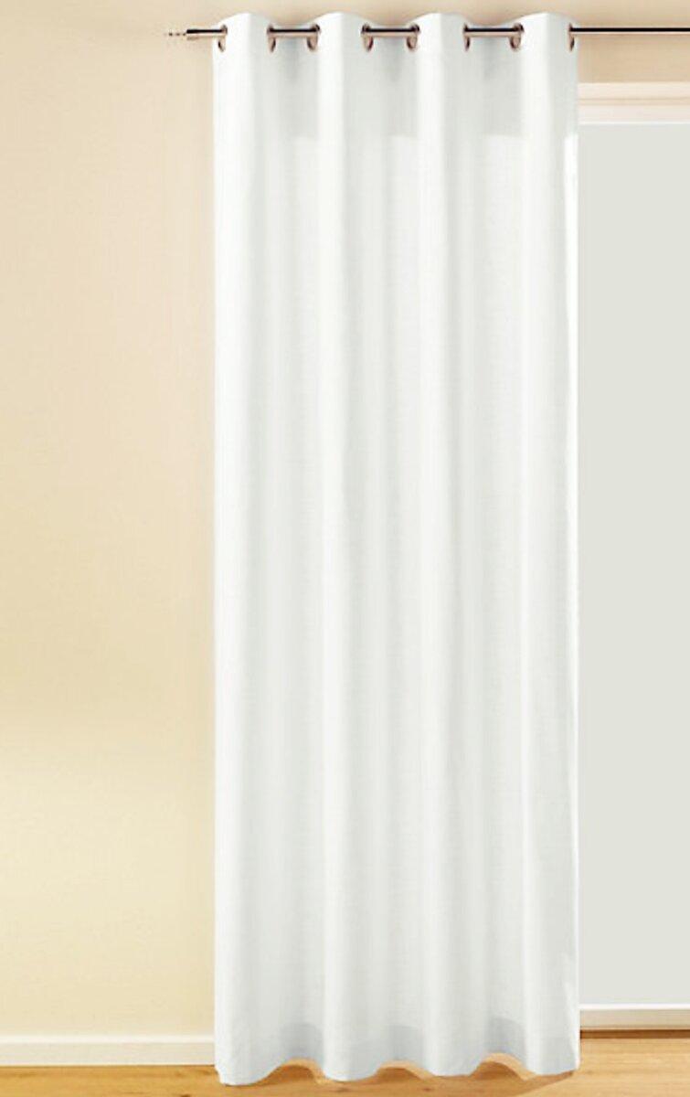 dekoschal mit sen farbe weiss design uni blickdicht chintz. Black Bedroom Furniture Sets. Home Design Ideas