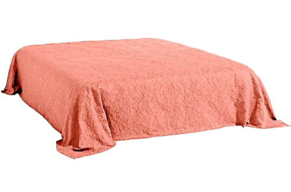 tagesdecke farbe koralle design vintage jacquard gewebe. Black Bedroom Furniture Sets. Home Design Ideas