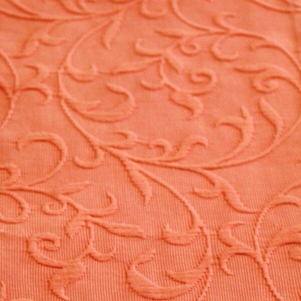 ... Tagesdecke, Farbe Koralle, Design Vintage, Jacquard Gewebe, 100%  Baumwolle, ...