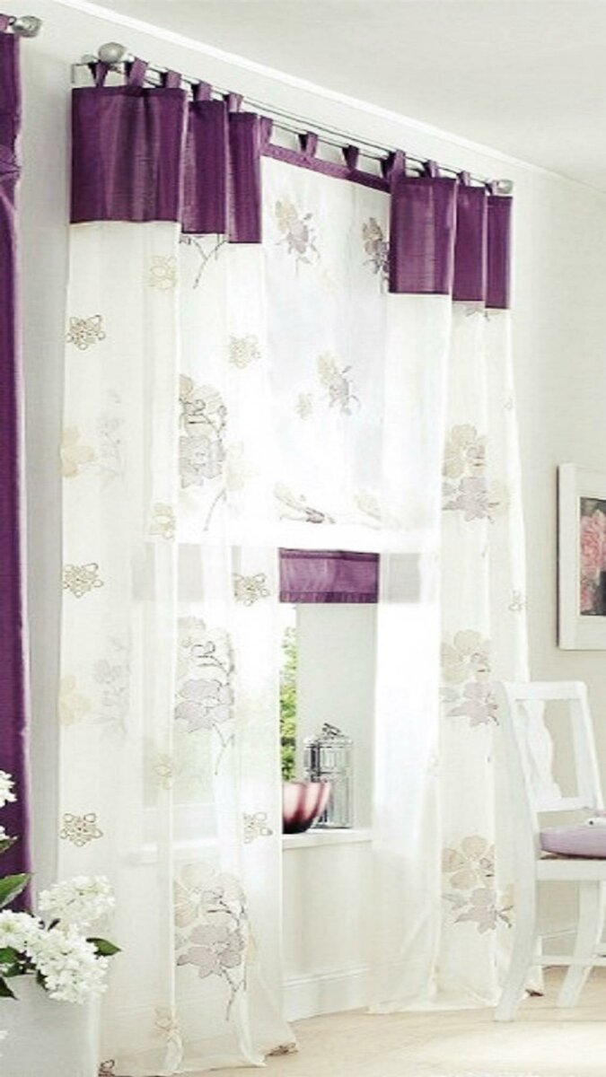 Raffrollo Mit Klettband : raffrollo mit klettband farbe creme lila design floral ~ Watch28wear.com Haus und Dekorationen