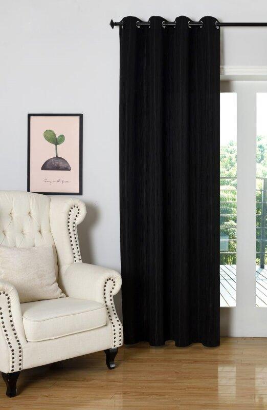 20480 vorhang jacquard blickdicht sen schwaz 245x140 9 90 e. Black Bedroom Furniture Sets. Home Design Ideas