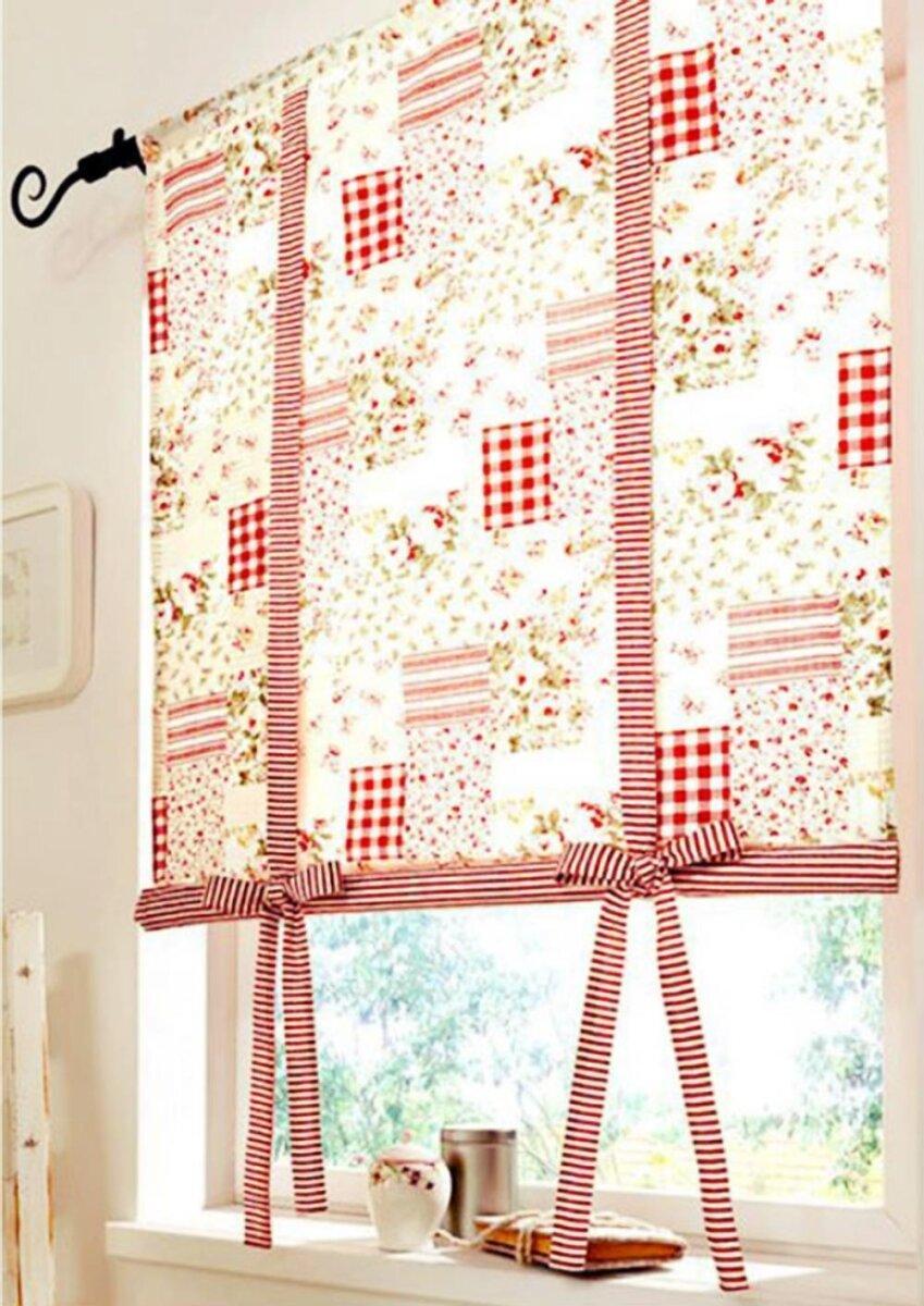 raffrollo mit tunneldurchzug farbe bunt design patchwork blickdic. Black Bedroom Furniture Sets. Home Design Ideas