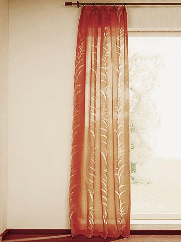dekoschal mit kr uselband ausbrenner farbe orange design bl. Black Bedroom Furniture Sets. Home Design Ideas