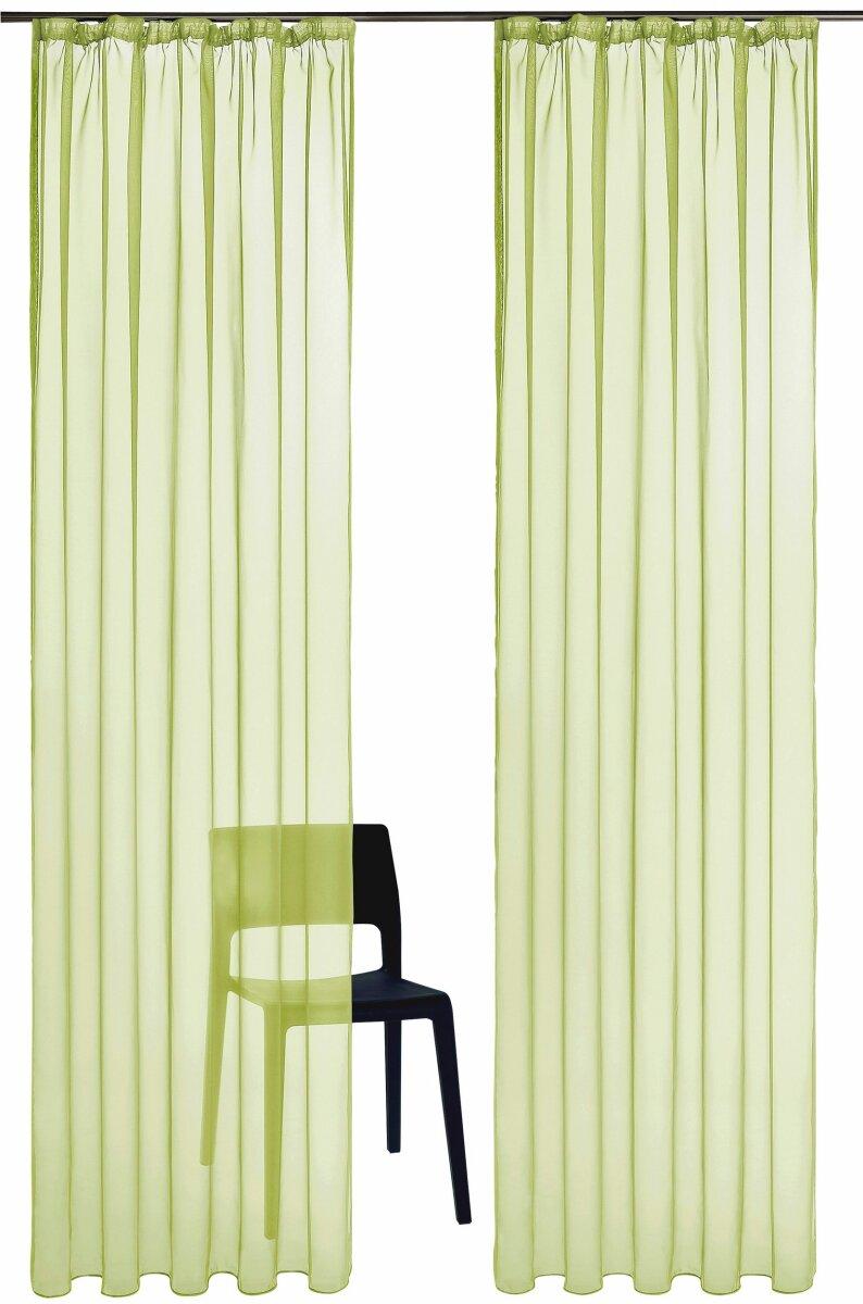 gardine 2 st ck roma uni mit kr uselband farbe gr. Black Bedroom Furniture Sets. Home Design Ideas