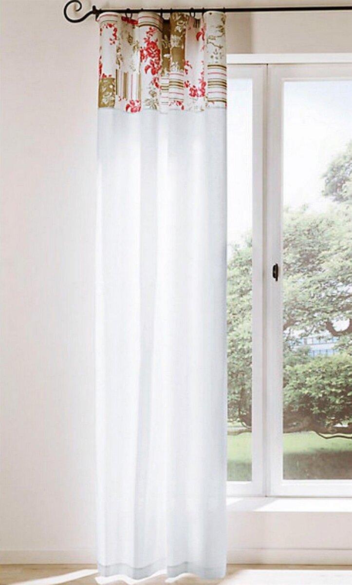 dekoschal mit sen farbe weiss design rosen blende in patchw. Black Bedroom Furniture Sets. Home Design Ideas