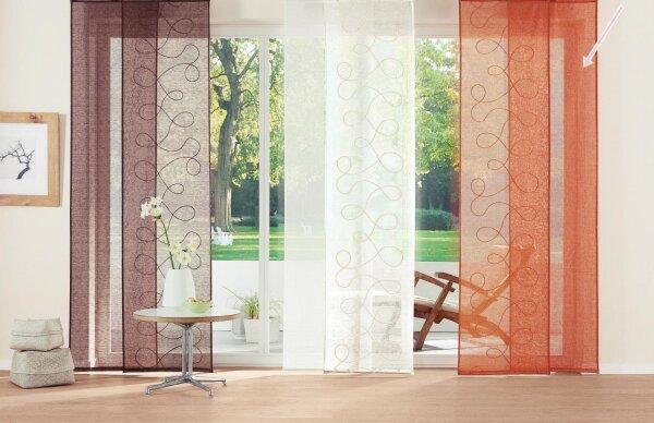 schiebevorhang mit klettband 2 st ck farbe k rbis desig. Black Bedroom Furniture Sets. Home Design Ideas