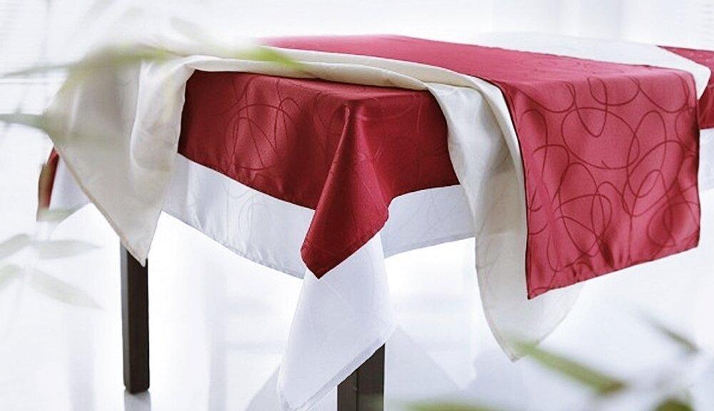 Tischdecke wohntraum farbe bordeaux design ellipsen for Bordeaux design