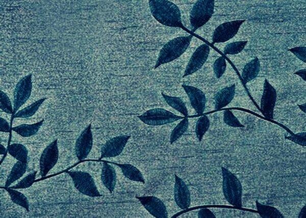 Gardine Mit ösen Farbe Petrol Design Floral Bestickt Bordüre Transparent Voiele Waschbar In Verschiedenen Größen Erhältlich