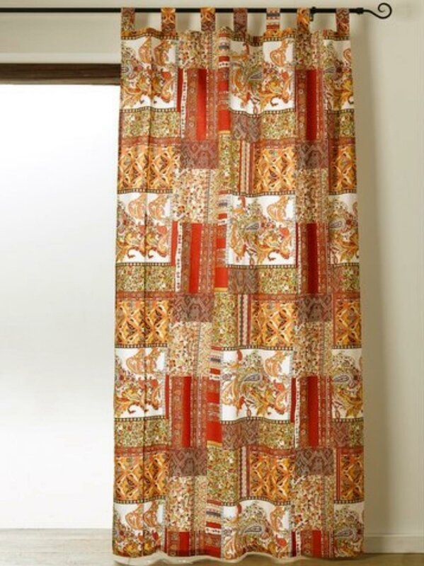 Dekoschal, mit Schlaufen, Farbe Bunt, Design Mediterran, Patchwork Dr