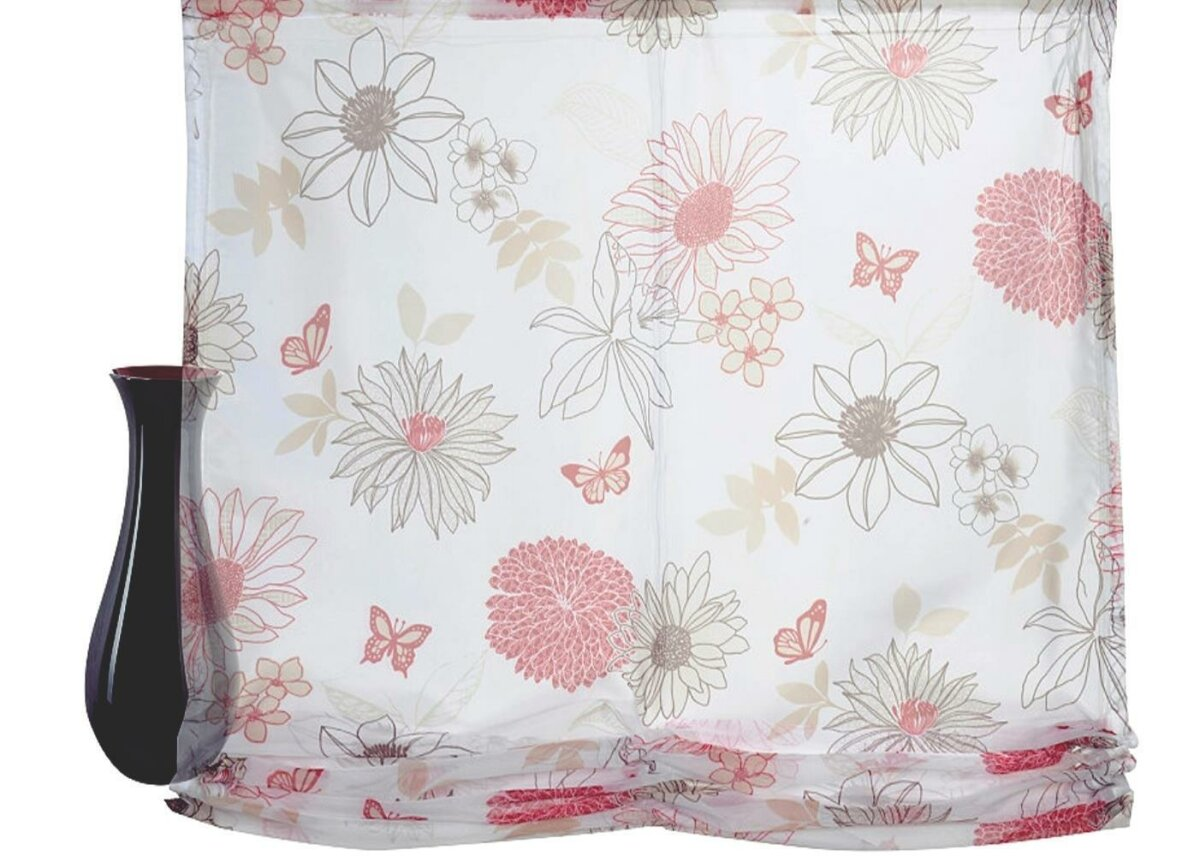 raffrollo mit klettband farbe rot design flower mix. Black Bedroom Furniture Sets. Home Design Ideas