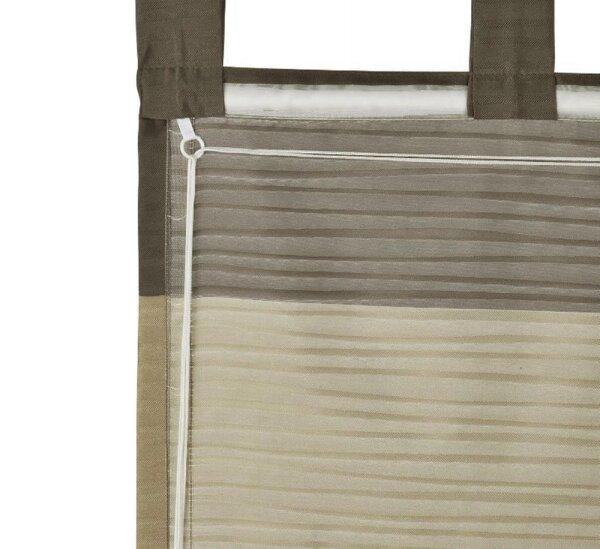 raffrollo mit schlaufen farbe stein design querstreifen halborgan. Black Bedroom Furniture Sets. Home Design Ideas