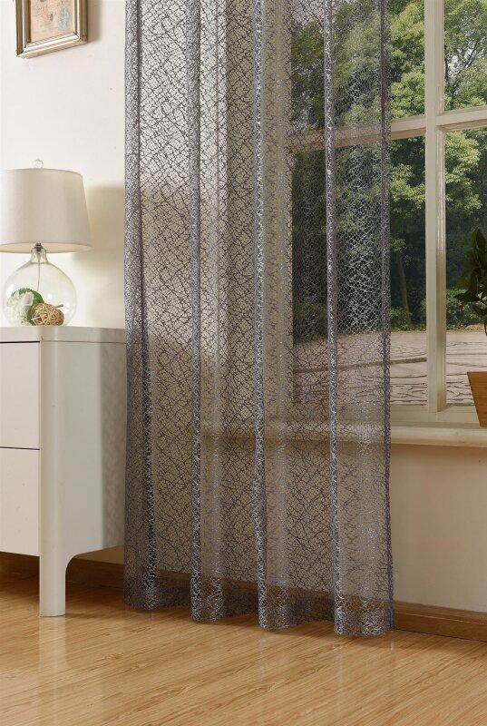 20352 002 grau 245x140 gardine netzvorhang mit sen einfarbig t. Black Bedroom Furniture Sets. Home Design Ideas