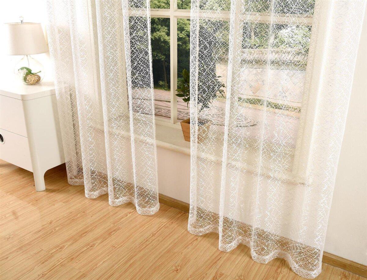 20352 003 natur 245x140 gardine netzvorhang mit sen einfarbig. Black Bedroom Furniture Sets. Home Design Ideas