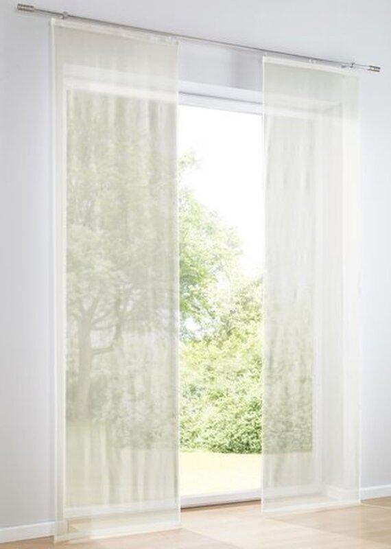 schiebervorhang moving panel farbe offwhite 1 st ck. Black Bedroom Furniture Sets. Home Design Ideas