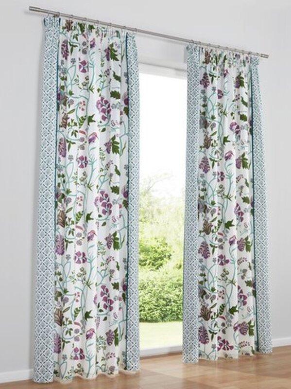 dekoschal farbe bunt heine home 1 st ck mit kr uselband. Black Bedroom Furniture Sets. Home Design Ideas