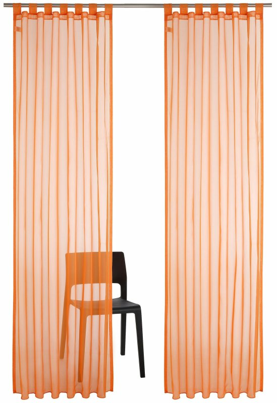 gardine farbe orange my home pebel 1 st ck mi. Black Bedroom Furniture Sets. Home Design Ideas