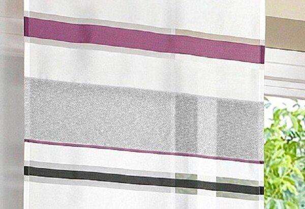 Beliebt Schiebevorhang, Flächenvorhang 1 Stück, Farbe weiß-vi MS37