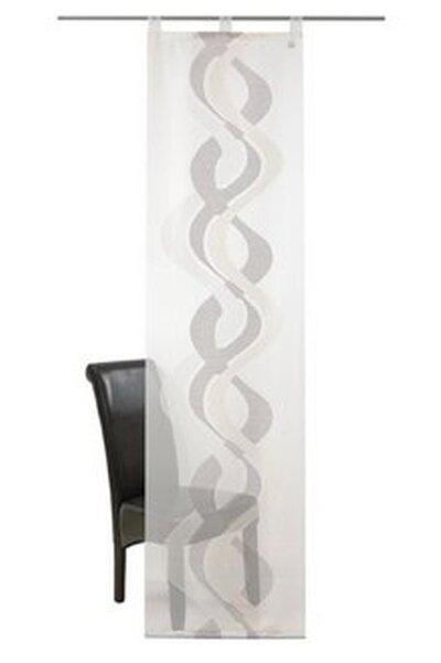 Schiebevorhang Mit Schlaufen Farbe Weiss Grau Design Flower Mix