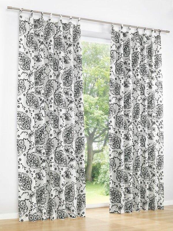 dekoschal farbe offwhite schwarz 1 st ck heine home gardinen. Black Bedroom Furniture Sets. Home Design Ideas