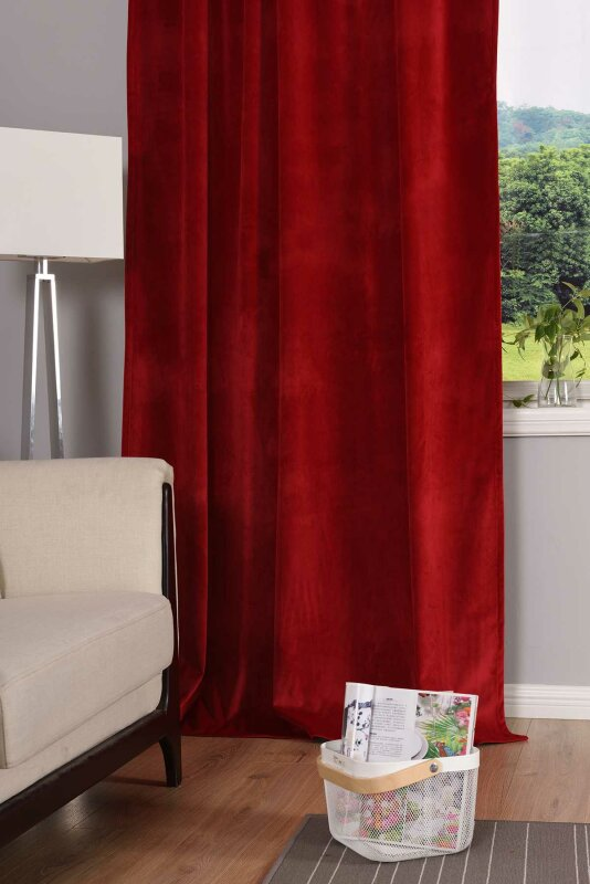 Samtvorhang Rot Beautiful Samtvorhang Rot Roter Mit Quaste