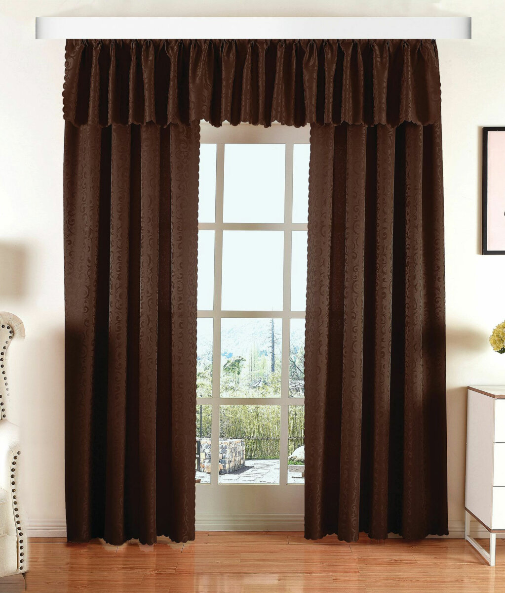 halley damast gardinen set vorhang und querbehang