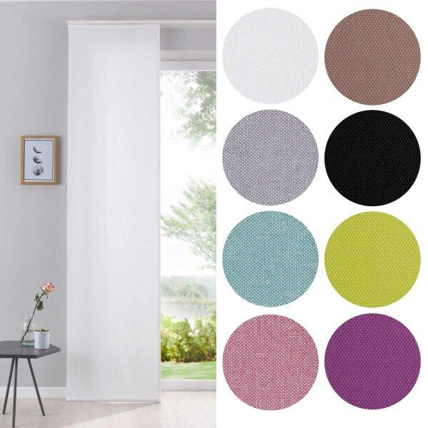204411 schiebegardine 245x60 cm cationic blickdicht leinen optik 9. Black Bedroom Furniture Sets. Home Design Ideas