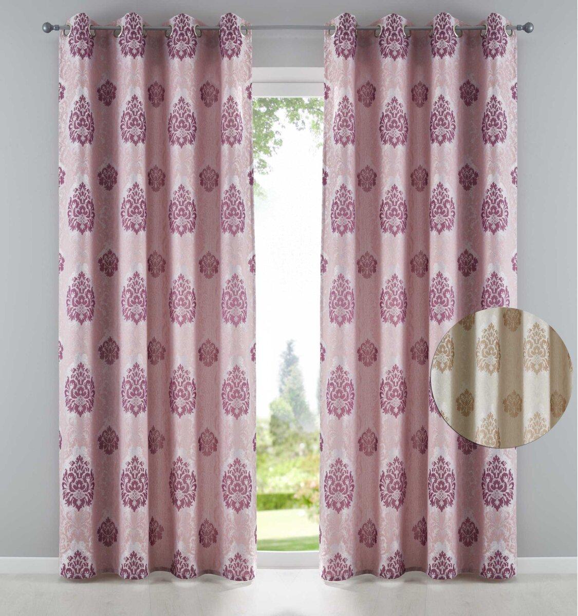 Vorhang gardine izmir senschal blickdicht barock for Vorhang blickdicht