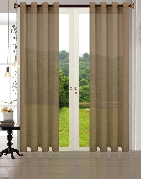 20332cn 2er pack vorhang transparent gardinen set. Black Bedroom Furniture Sets. Home Design Ideas