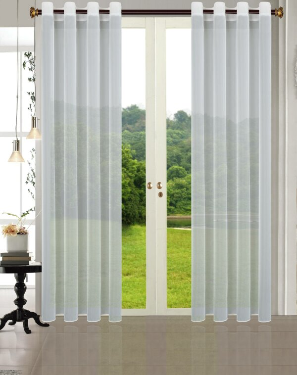 20332CN- 2er-Pack Vorhang Transparent Gardinen Set Wohnzimmer Voile