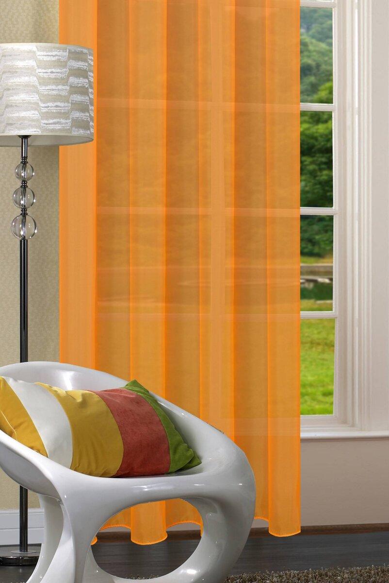20332cn 2er pack orange vorhang transparent gardinen set. Black Bedroom Furniture Sets. Home Design Ideas