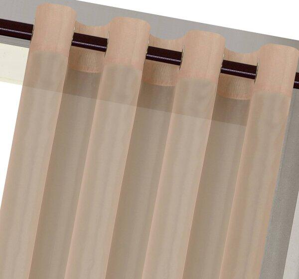 20332cn 2er pack sand vorhang transparent gardinen set. Black Bedroom Furniture Sets. Home Design Ideas