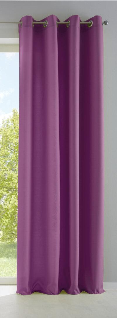 raffrollo mit schlaufen farbe burgund weiss design. Black Bedroom Furniture Sets. Home Design Ideas